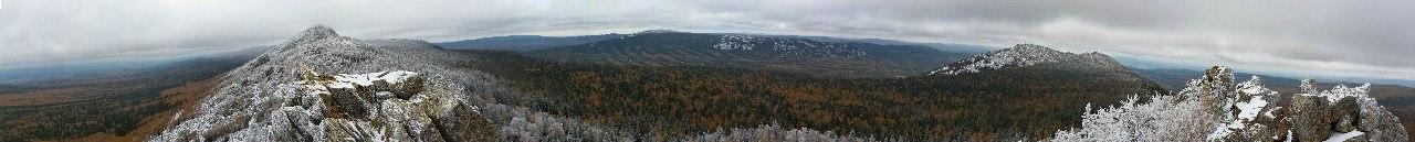 Панорама с Митькиных скал (23.06.2015)