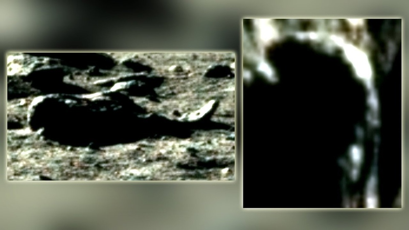 Can An Extraterrestrial Be Seen Lying On The Moon Wearing A Breathing Apparatus (Moon Mysteries)