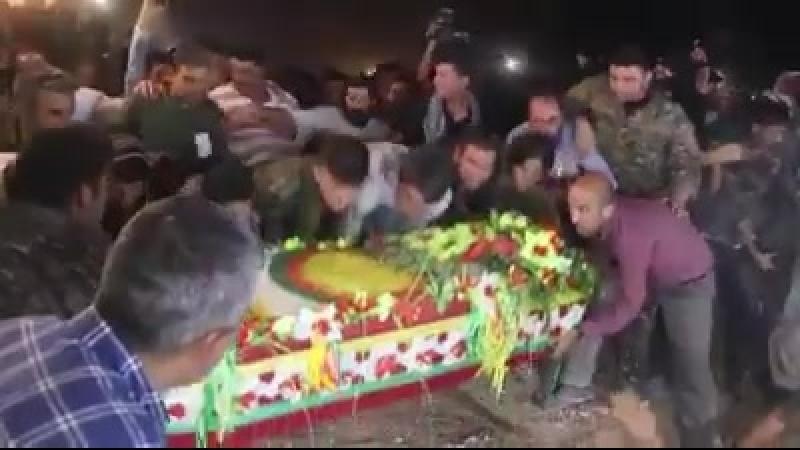 Террориста Исмаила Оздена убитого силами безопасности Турции, сегодня похоронили.