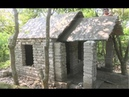 Building beautiful roman house Primitive technology with manual construction skills