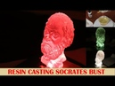 Resin Casting Socrates bust using Silicone Mould - Silicon Moulding Steps