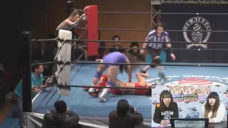 Giulia, Rin Kadokura vs. Mai Mizuchi, Satsuki Totoro (Ice Ribbon - Ryogoku KFC Ribbon 2018)