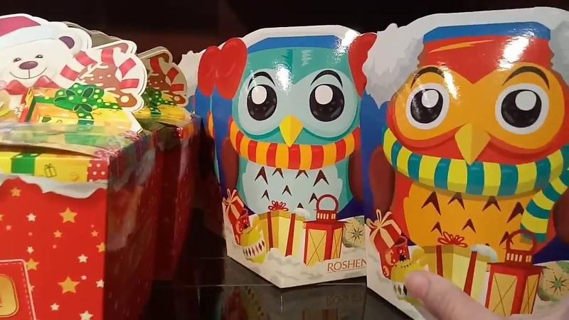 АРТ ОБЗОР 1Серия.Магазин Roshen Одесса Цены на Новогодние подарки New Year Инсталляции (1.12.2017)