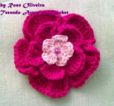 Красивые цветы крючком (7 фото) - картинка