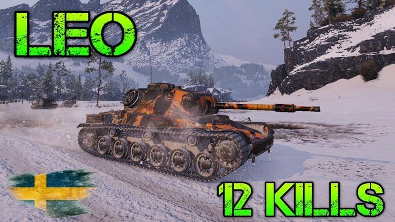 Leo \ world of tanks \ Заполярье \ 12 ФРАГОВ \