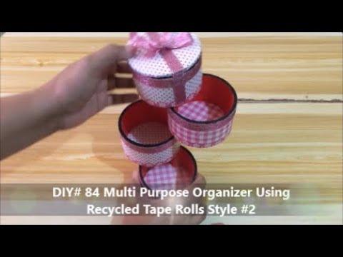 DIY Multi Purpose Organizer Using Recycled Tape Rolls Style 2
