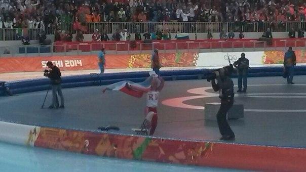 Ураааааа! Первая медаль! Ольга Граф бронза! #конкобежныйспорт #сочи2014