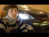 Тюнинг фар Mazda CX-7  установка светодиодных би линз Optima Premium Bi LED Lens 5100К