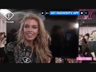 Stella Maxwell Backstage Victorias Secret Fashion Show 2018 - FashionTV - FTV