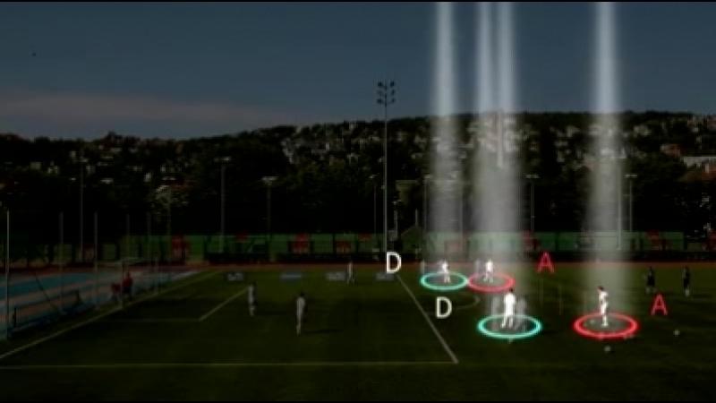Футбольные упражнения на завершение атаки - Зиг Заг движения и удары на скорости.