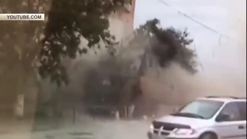 Взрыв газа в жилом доме в Волгограде 16.05.2017 реальная съемка момента