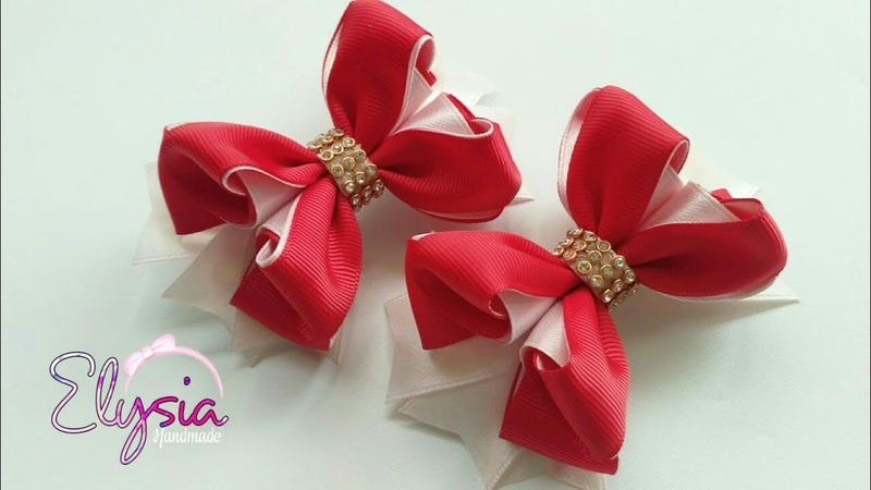 Mini Christmas Bow Tutorial 🎀 DIY by Elysia Handmade