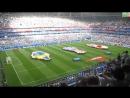 Разворачивают флаги 1/4 финала ЧМ-2018 Англия - Швеция
