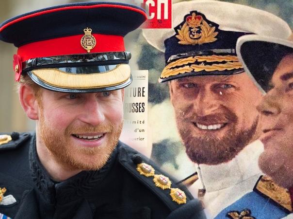 Как близнецы: принц Гарри выглядит точной копией молодого принца Филиппа