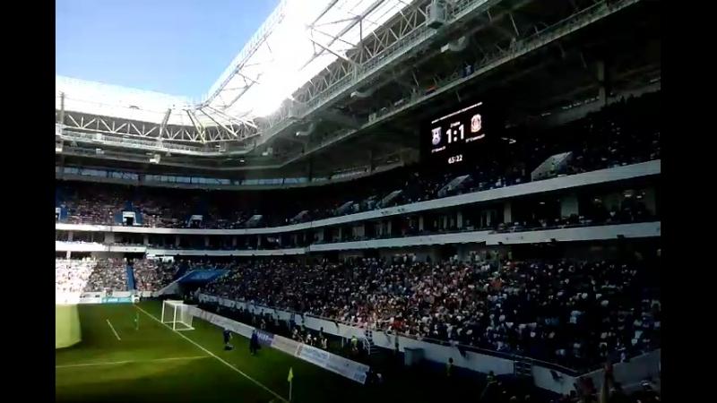 открытие стадиона матч 2 тайм