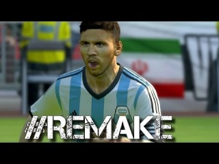 World Cup 2014 ►Lionel Messi vs Bosnia and Iran ● PES 2014