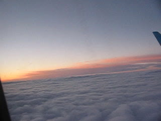 Закат с самолета