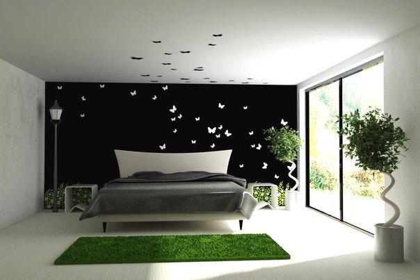 Идея декора комнаты с бабочками (1 фото) - картинка