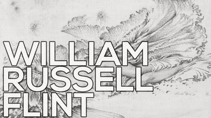 William Russell Flint: A collection of 100 sketches (HD)