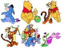 123 pic WMF Большой набор клипарта c героями мультсериала Диснея Winnie The Pooh.