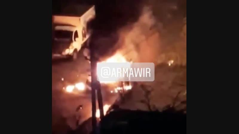 Взрыв автомобиля от утечки газа в Армавире 14 01 19