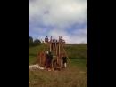 Стрельба из катапульты в пригороде Переславля