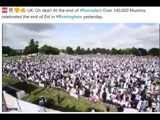At the end of #Ramadan! Over 140,000 Muslims celebrated the end of Eid in #Birmingham yesterday.