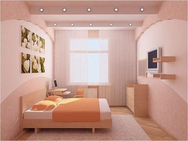 Спальня в нежных тонах (1 фото) - картинка