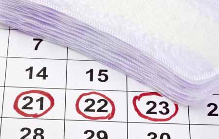 У большинства женщин менструальный цикл длится 28 дней.