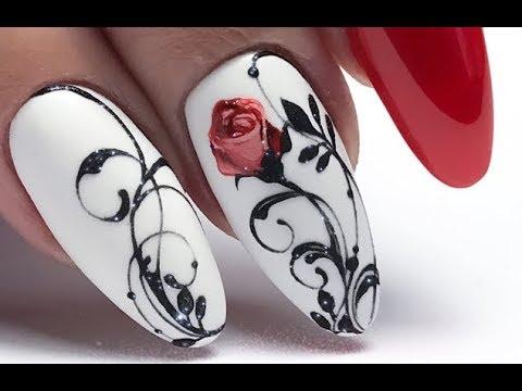 15 Romantic Elegant Nail Art Designs 2019   Uñas Románticas Elegantes 199