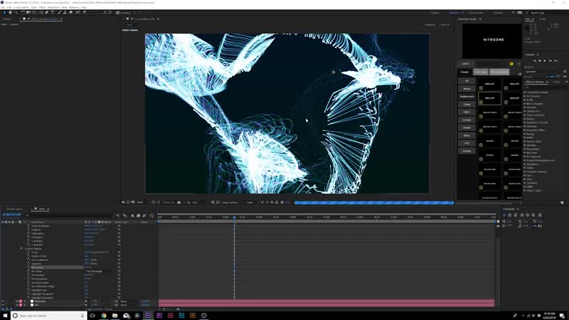 Particles Titles _ Abstract Particles _ After Effects Tutorial