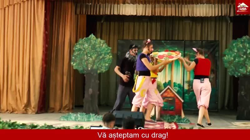 Spectacol Distractiv Interactiv și Educativ de Animație pentru Copii Aventurile celor Trei Purceluși la Cimișlia
