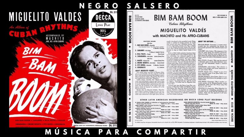 Miguelito Valdés With Machito And His Afro-Cubans - Oye Negra