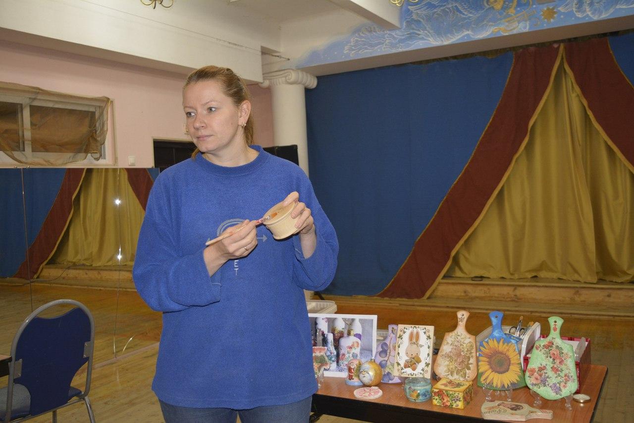 мастер-класс по декупажу шкатулок - проводит Авдеева Татьяна