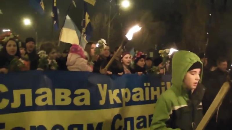 Gloryfikowania przez ukraińców ludobujstwa na Narodzie Polskim