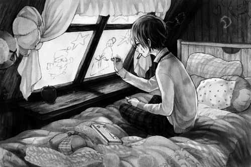 Черно белые картинки аниме картинки