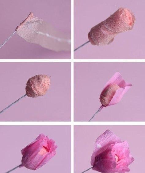 Как из бумаги сделать цветы тюльпаны своими руками