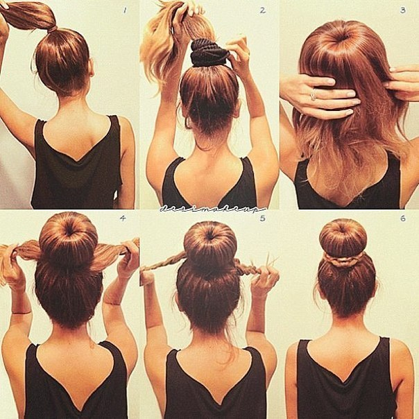 Причёски на каждый день своими руками фото в школу