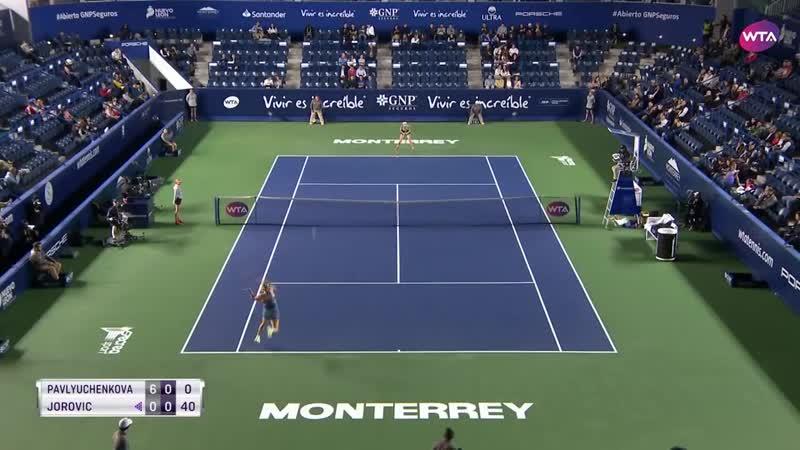 Anastasia Pavlyuchenkova vs. Ivana Jorovic _ 2019 Monterrey Open Second Round _