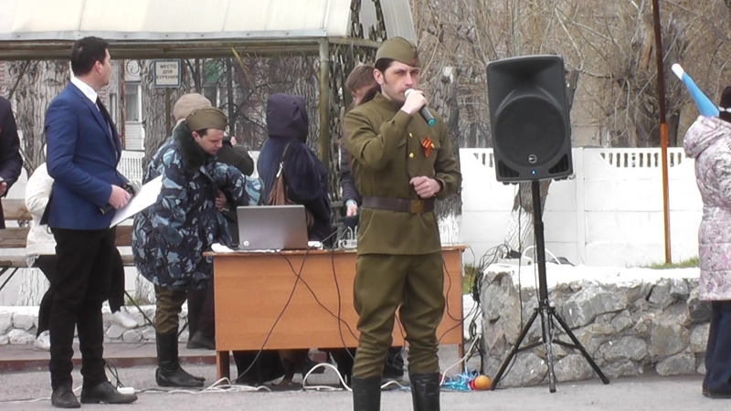 Андрей Филиппов Журавли на праздничном митинге в ИК-3 07.05.2018