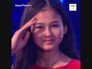 Девочка из Казахстана прочитала 18 страниц за 35 секунд на телешоу в России