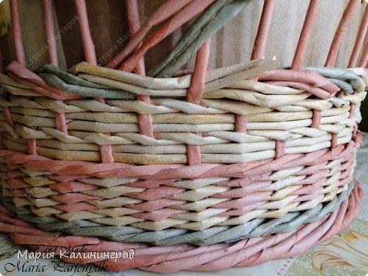 Плетение из газет: мк трёхцветной косы и загибка KvCmonSMufE