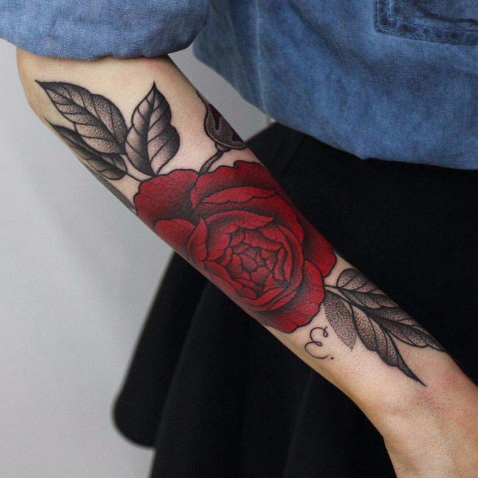 Тату роз 663 лучших фото татуировок 2018 года - KissMyTattoo 93