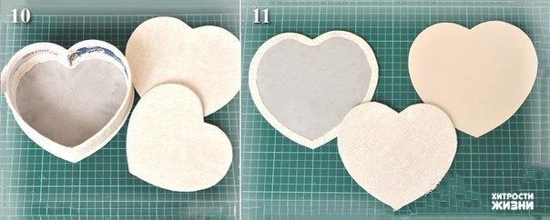 Шкатулка сердце из картона
