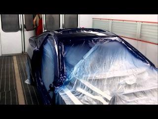 Toyota Celica T23 в покрасочной камере