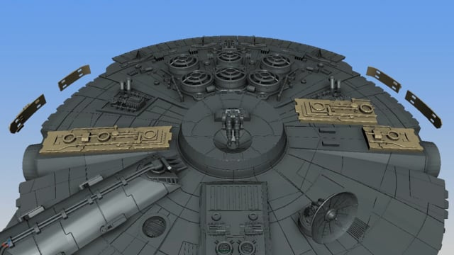 Millennium Falcon Tracery, Docking Ring 3D Printable Parts – Kit 4