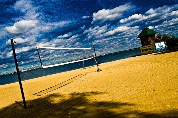 Пляж гостиницы Березка