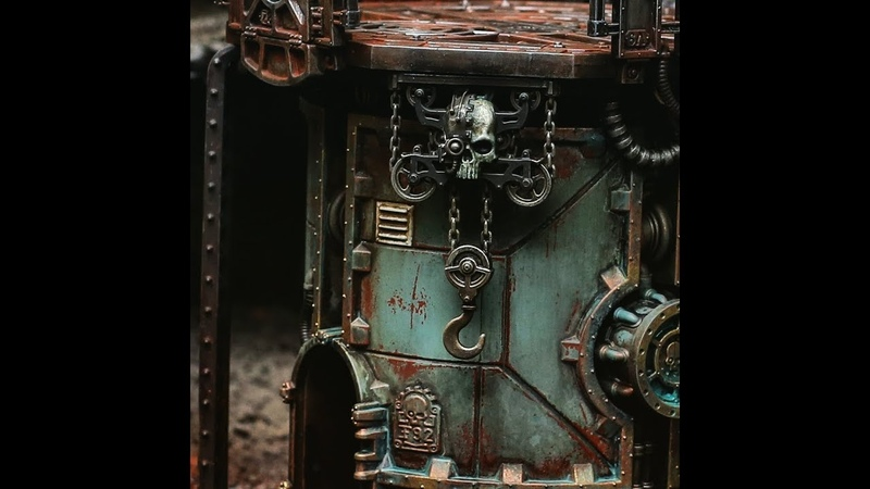 Как покрасить террейн для Warhammer 40k (How to Paint: Warhammer 40k Terrain | Grim Dark and Weathered)