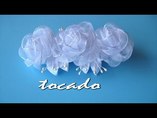 DIY - Tocado niña primera comunión - Headdress nina first communion