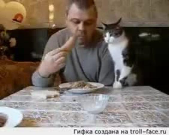 """""""Неправильно ты, дядя Фёдор, сосиску ешь... Дай чуток, ну дай..."""